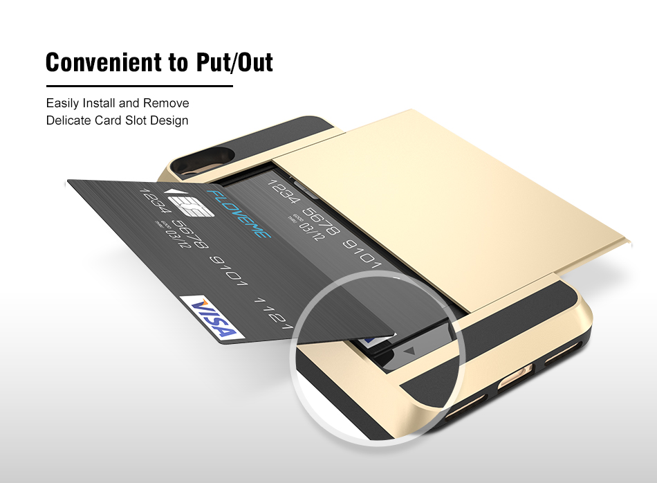 Convienient iphone case card holder
