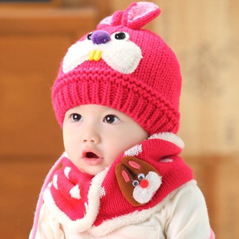 16a144d8c9b ... sells 4901d eb6d3 Toddlers Cute Bunny Crochet Beanie Kids Boys Girls  Winter Knitted Hats Adorable Rabbit ...