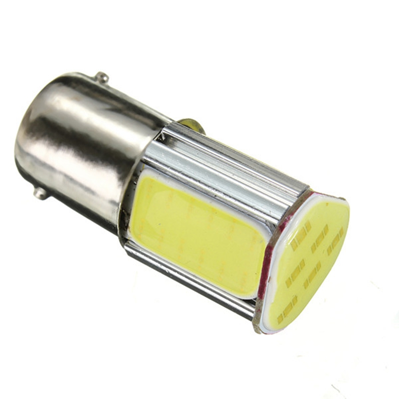 2pcs 12V Car Lights 5W 1156 COB LED Bulb 1156 Auto Car Turn Light Lamp 500lm 6500-7000K White h1 7 5w 330 380lm 6500 7500k 5 led white light car foglight pair