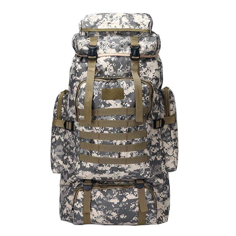 80L Waterproof Molle Camo Tactical Backpack Military Army Hiking Camping Backpack Travel Rucksack Outdoor Sports Climbing Bag рюкзак national geographic ng w5070