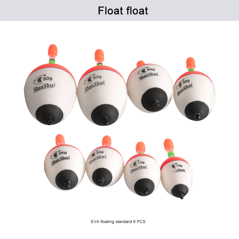 8 pcs/lot EVA Fishing Float 10g/15g/20g/25g/30g/40g/50g/60g Bobber night luminous Sticks Pot-bellied belly Fishing Tackle Tool