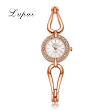 Lvpai Luxury Brand Watches Women Fashion Diamond Surround Case Quartz Wristwatch Gold Hollow Strap Ladies Female Business Clock