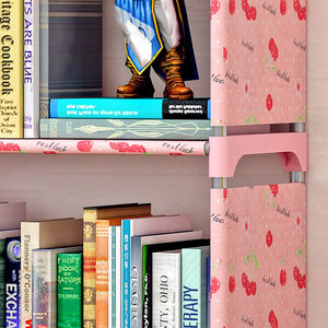 Image 4 - Fashion Simple Non woven Bookshelves Two layer Dormitory Bedroom Storage Shelves Bookcase Childrens Assembly Bookcase