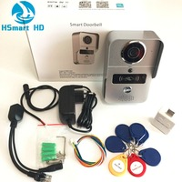 Wireless SD Card Video Recording Video Door Phone RFID Keyfobs Indoor Bell Wifi IP Door Bell