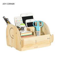 Desk Organizer Office Accessories Pen Holder Pen Stand Desk Accessories Stationery Organizer Wood Pencil Holder JOY