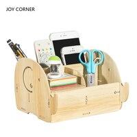 Desk Organizer Office Accessories Pen Holder Pen Stand Desk Accessories Stationery Organizer Wood Pencil Holder JOY