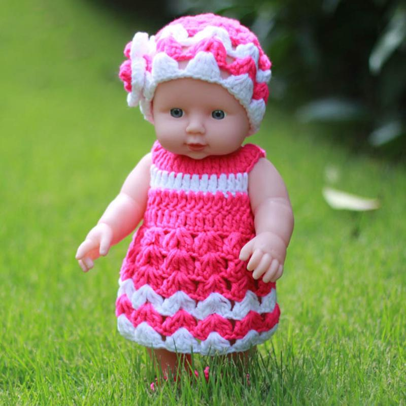 30cm Baby Doll Soft Vinyl Silicon Lifelike Dolls Toy Children Simulation Doll Baby Learning Educational Toy Birthday Gift