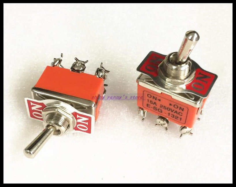 Home Appliance Parts Fan Parts 5 Pcs 2-position On-on Dpdt Self-locking Toggle Switch Ac 250v 15a 1321