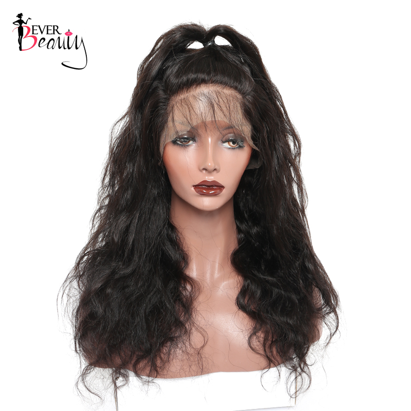 Ever Beauty 13x4 Lace Front Մարդու մազերի wigs - Մարդու մազերը (սև) - Լուսանկար 2