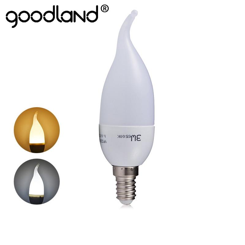 E14 Led Lamp 220V 240V SMD2835 3W Led Bulb Lights Cold White Warm White Intelligent IC Driver Crystal Light C37 LED Candle Bulb