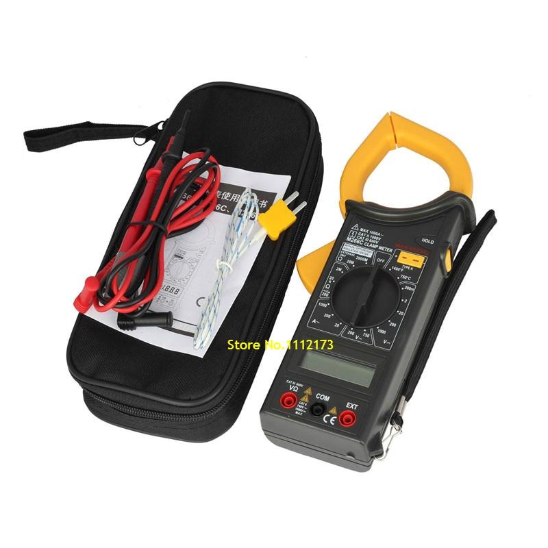 MASTECH M266C Digital Clamp Meter Voltmeter Ohmmeter ACVoltage AC Current Resistance Temp Tester Detector with Diode multimeter  цены