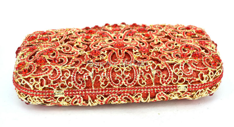 Bandoulière red De Sac Or Sacs Creux Purse Femmes À En Pierres Cocktail Dames Clutch Bag Rouge Cristal Incrusté Diamant Picture Sc449 Bourse Soirée 1w1xanFrqE