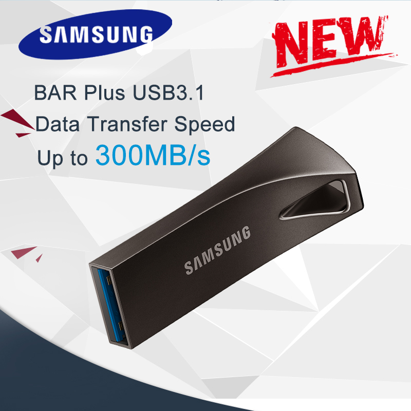 SAMSUNG BAR PLUS USB En Métal Flash Drive 32 GB 64 GB 128 GB 256 GB USB3.1 pen drive jusqu'à 300 MO/S pendrive mémoire USB disque flash
