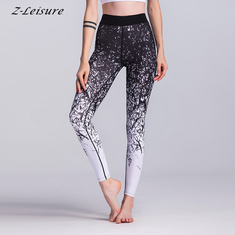 Women Compression Sports Yoga Pants Fitness Running Trousers Gym Yoga Slim Leggings Gear Elastic Exercise Tights YG148