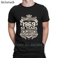 Сентября 1969 60 лет быть потрясающей футболкой печать юмора сумасшедшие картины летняя строгая футболка рубашка