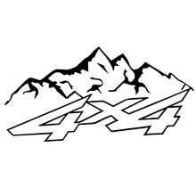 16.6cm*8.3cm 4X4 Mountain Offroad Fashion Vinyl Decals Motorcycle Car Sticker Car-styling Black/Silver S6-3587
