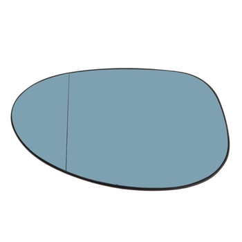 Blue Rearview Mirror Glass Right Side Heatable Lens For BMW 3Series E90 #306 image