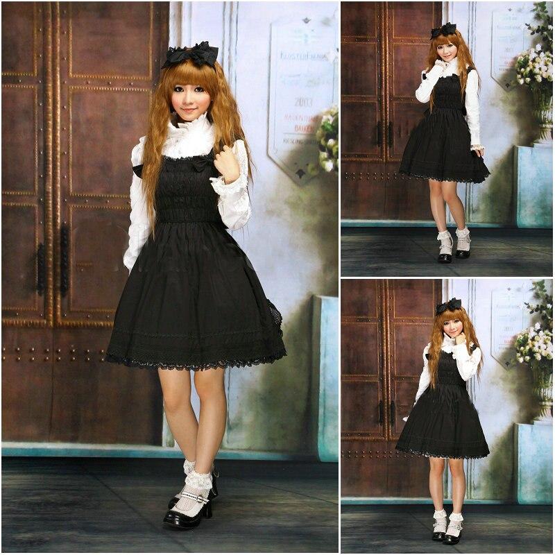 Black Cotton Cocktail Dress
