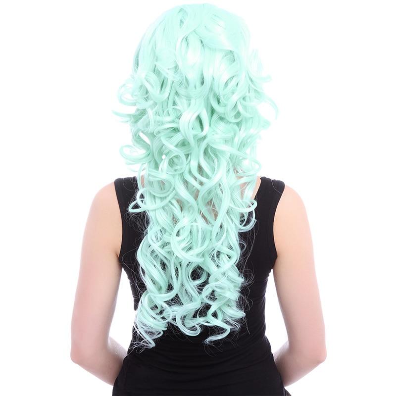 L-email paryk 27,56 tum 70cm Lång Cosplay Parykar 5 Färger Vågigt - Syntetiskt hår - Foto 5