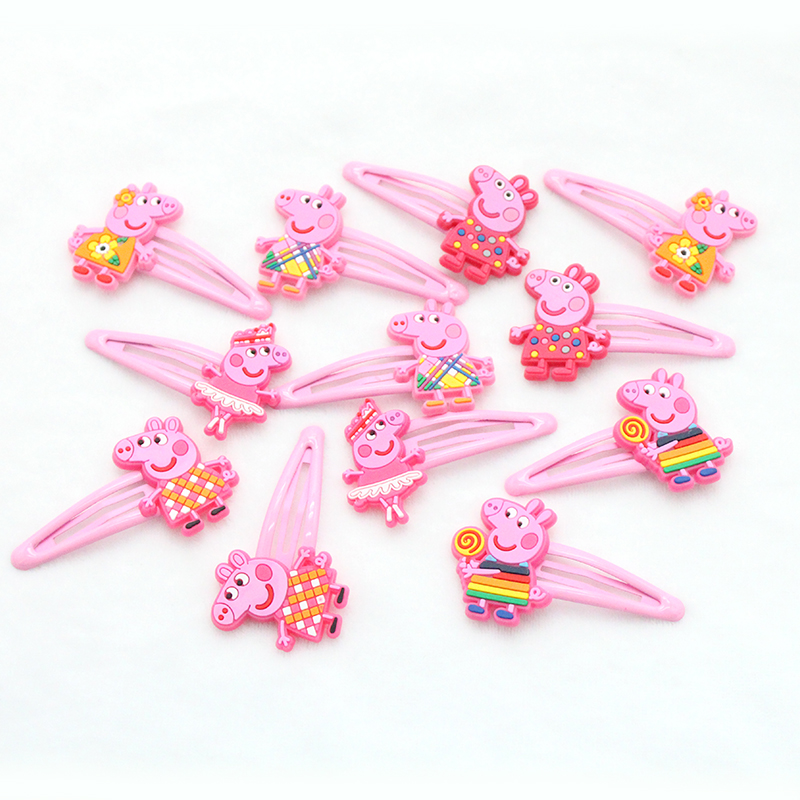 12 PCS/lot  Hair Clips Barrettes Girls Cute Hairpins Colorful Headbands For Kids Hairgrips Hair Accessories 10pcs lot high quality new 6 0cm barrettes safety pack cloth hair clips for women accessories colorful solid girls cute hairpins