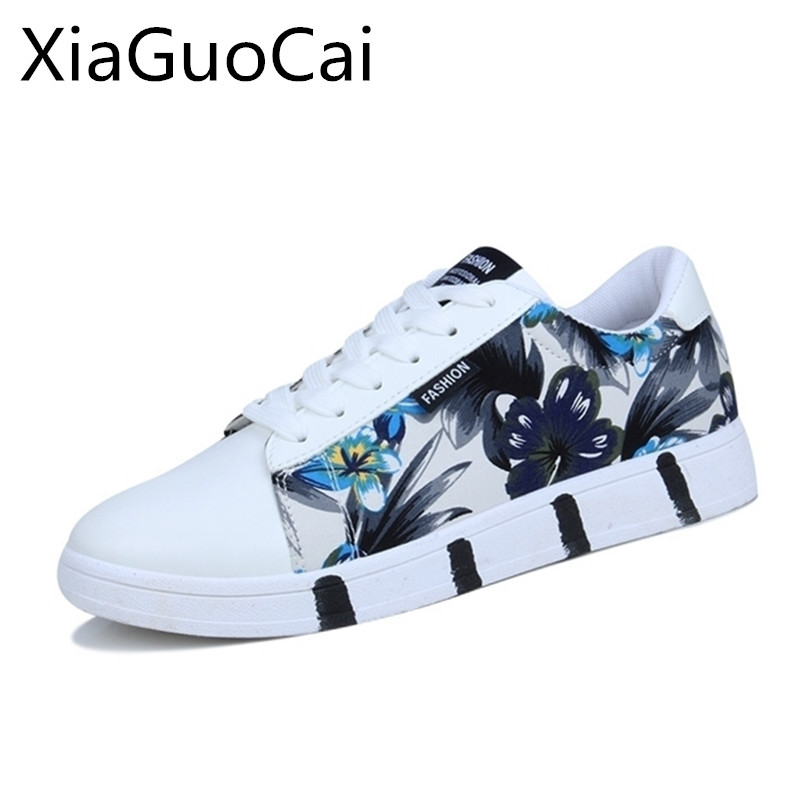 Mixed Colors Fashion Men Flat Shoes Spring Leather Lace-up White Casual Shoes for Men Low Top Autumn Sneakers Drop Shipping 35 xiaguocai spring autumn high top men shoes fashion canvas men s casual shoes lace up flat ankle boots for male