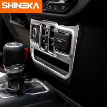 SHINEKA Interior Mouldings for Jeep Wrangler JL 2018+ Window Control Panel Decoration Sticker Accessories For jeep