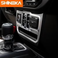 SHINEKA Interior Mouldings for Jeep Wrangler JL 2018+ Window Control Panel Decoration Sticker Interior Accessories For jeep JL