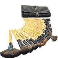 Professional 32 Pcs Makeup Brushes Set Tools Make Up Kit Wool Handle Make Up Brush Set