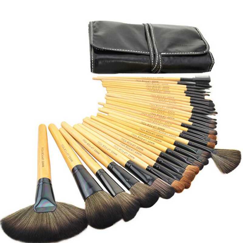 Professional 32 Pcs Makeup Brushes Set Tools Make-up Kit Wool Handle Make Up Brush Set Cosmetic Eyebrow Blush Foundation Brush тушь make up factory make up factory ma120lwhdr04