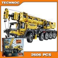 2606pcs New 20004 Technic Mobile Crane MK II Building Kit 3D Model Blocks Teenager Toys Bricks Set Machine Compatible with Lego