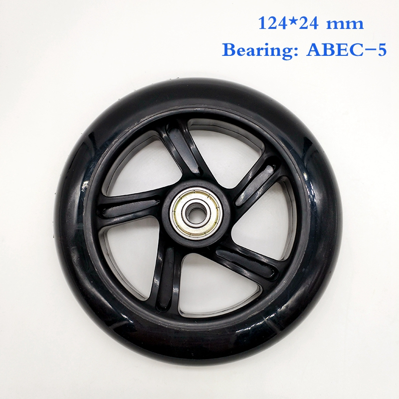 free shipping scooter wheel black 124*24 mm 120*24 mm 2 pcs/lot bearing abec-7 хуторской а дидактика учебник для вузов стандарт третьего поколения isbn 9785496024914