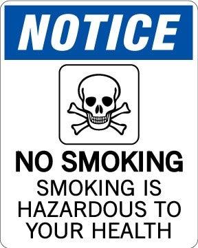 Уведомления не курить, 4x5 дюймов, самоклеющиеся этикетки, код товара PL17