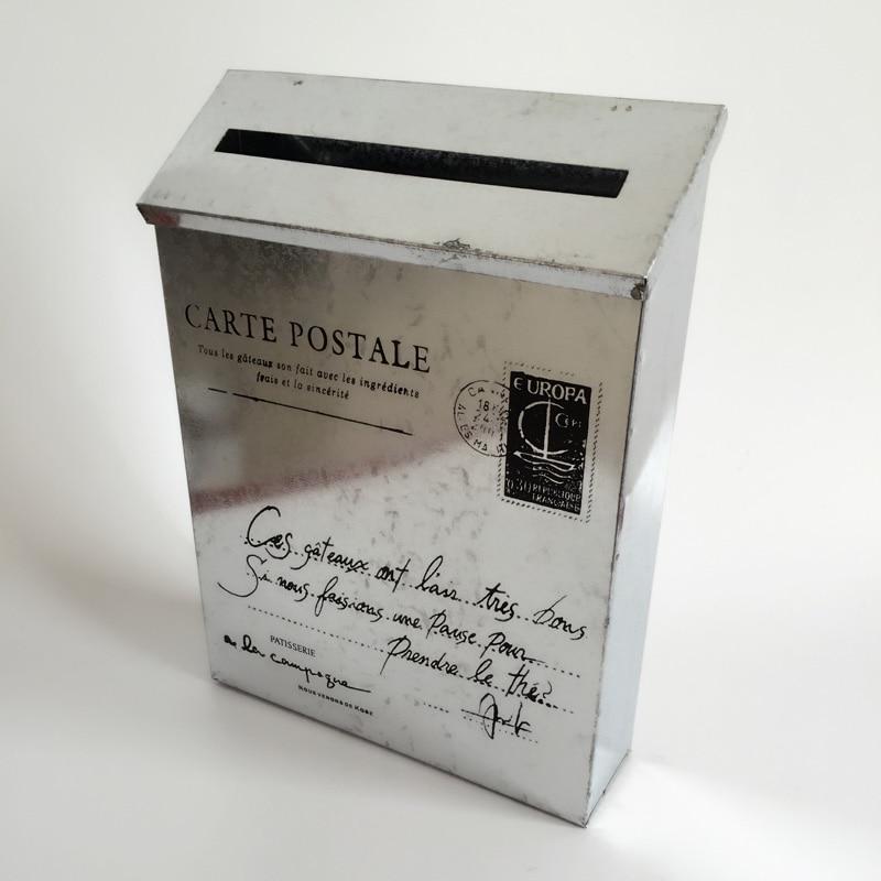 Rustic Mail-Box Tin Mailbox Mail box Silvery Post Box SF-115