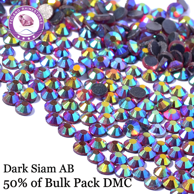 Dark Siam AB Red AB Hotfix Rhinestones Wholesale FlatBack Strass Stones Decoration Garment Rhinestone Transfer Motifs