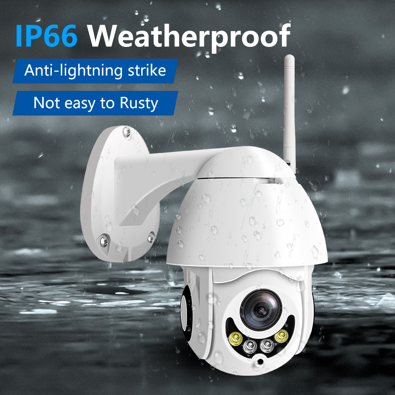 2 Pack 960P 1080P Wireless WiFi outdoor ip camera 5x Optical Zoom surveillance system Waterproof IR 30M wifi security camera