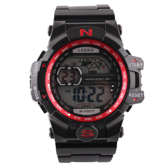 2017 Men Quartz Digital Sports Watches Military Silicone Waterproof Wristwatche