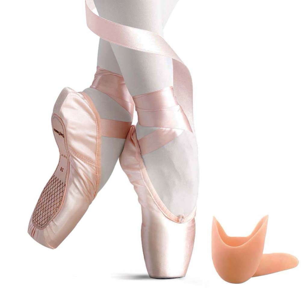 Kids Pointe Shoes Stain Canvas Ballet Shoe Girls' Flat Split Sole For Girls With Toe Pads hot sales women ballet dance pointe shoes high quality colorful satin ribbons with bag and toe pads