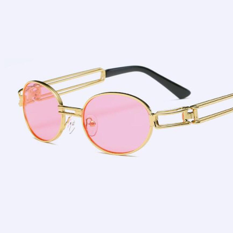 Gafas de sol transparentes redondas gafas transparentes para hombre  pequeñas gafas de sol ovaladas para mujer gafas de sol punk vapor mujer  rosa sombras en ... 7ab9497b8c3b