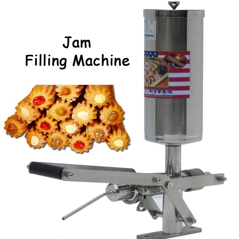 5L Stainless Steel Jam Filler Puff Filling Machine Churros Stuffer Fried Bread Stick Filling Machine NP-25 цены