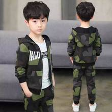 2019 New children's clothing boy autumn camouflage suit new big children's sports sweater two sets of tide clothes