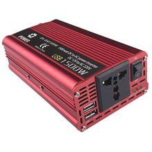 Автомобильный инвертор 12 В постоянного тока в переменный ток 230 в 1500 Вт автомобильный адаптер А USB конвертер автомобильный инвертор источник питания переключатель бортового зарядного устройства