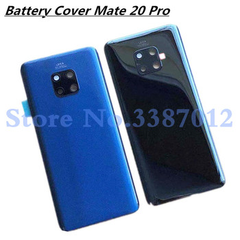 Original 3D Glass For Huawei Mate 20 Pro Glass Back Battery Cover Housing Case Rear+Glass Lens For Mate20 pro Rear Door