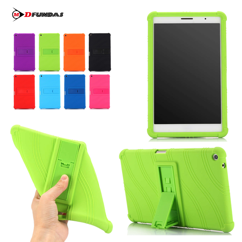 MDFUNDAS Wave Silicon Kickstand Soft Shell For Huawei Mediapad T3 8.0 Protective Skin Cover For Case Huawei T3 8 KOB-L09 KOB-W09