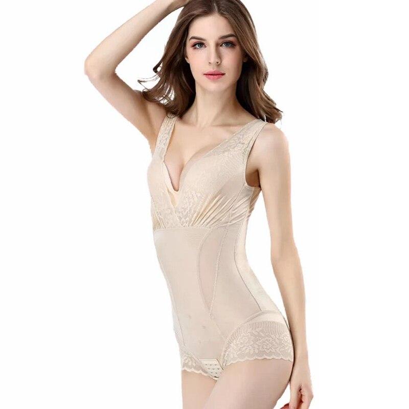 Women Shaper Bodysuit Negative ions Shape Body Slimming Underwear Corrective Tummy High Waist