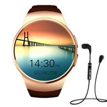 KW18 SiM Smart Uhr unterstützung GSM Pulsmesser NFC SmartWatch für apple samsung getriebe S2 huawei + bluetooth sport kopfhörer