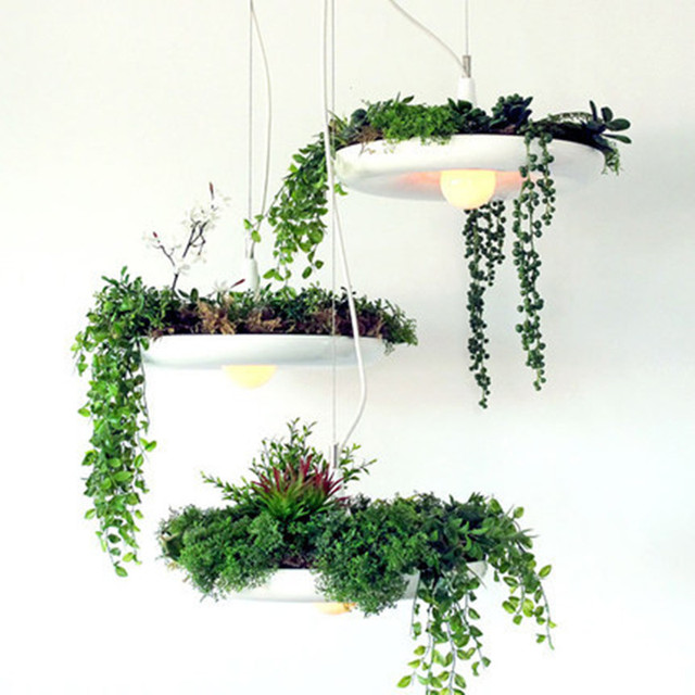 Led Kitchen Garden: Modern Pendant Light LED Hanging Gardens Of Babylon Plants