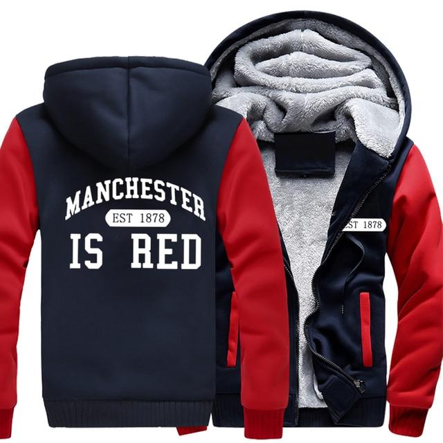 New Winter Coat United Kingdom Red Letter Hoodies Men Cotton Manchester Fashion Sweatshirts Casual Thicken Hoodie Warm Jackets