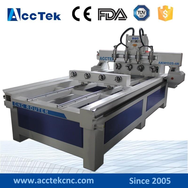 AccTek Hot Sale On China Alibaba Rotaries Cnc Router Machine Multi Head USB Interface