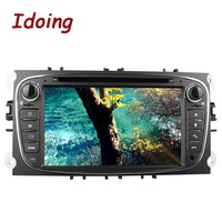 Idoing Steering Wheel 2Din Android7.1 Car DVD Multimedia Video Player For Ford Focus Mondeo s max GPS Navigation Touch Screen TV