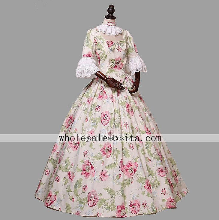 Renaissance Fair Colonial Princess Dress Alice in Wonderland Ball Gown Party Theater Clothing